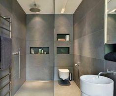 salle de bain ardoise : revêtement mural
