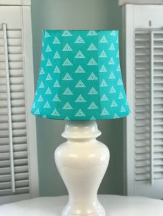 Coastal Lamp Shade, Aqua Lamp Shade, Oval Lamp Shade, Eclectic Lamp Shade, Blue Lamp Shade, FREE SHIPPING - Continental USA Eclectic Lamp Shades, Eclectic Lamps, Contemporary Lamp Shades, French Lamp Shades, Country Lamps, Blue Lamp Shade, Lamp Bases, Beach Themes, Coastal