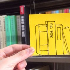 Books #postitdoodle #doodle #postit #yellow #book #books #drawing #library #follow #followme