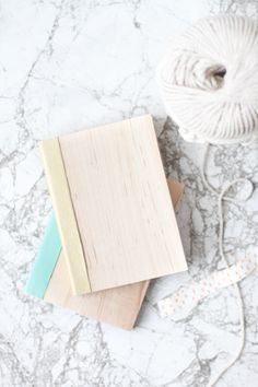 Cover Me: DIY Leather and Wood Covered Notebooks | Paper and Stitch