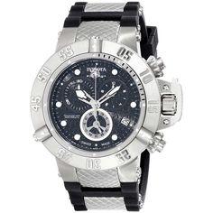 4e48f6d5700 Invicta 14941 Men s Subaqua Noma III Chronograph Black Dial Steel  amp   Rubber Strap Dive Watch