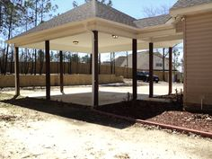 Ample Parking with the the 2 Car Carport - I like that it's attached to the house. Updating House, House With Porch, Barndominium, House Exterior, Barndominium Floor Plans, Carport Garage, Carport Addition, Carport Plans, Building A Porch