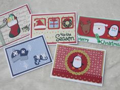 Handmade Christmas Cards designed to hold gift cards