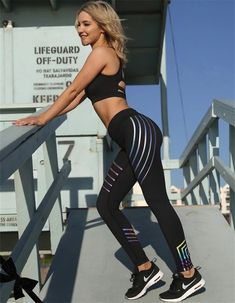 Cheap womens yoga leggings, Buy Quality yoga leggings woman directly from China sport woman fitness leggings Suppliers: 2017 Women Sexy Skinny Leggings Of Patchwork Mesh Yoga Leggings Fitness Sports Pants Youthful Own Store Mode Des Leggings, Best Leggings, Workout Leggings, Workout Pants, Black Leggings, Women's Leggings, Running Leggings, Fitness Noir, Black Fitness