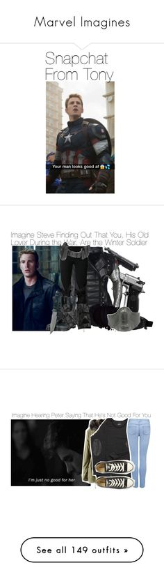 """""""Marvel Imagines"""" by fandomimagineshere ❤ liked on Polyvore featuring Undercover, Dr. Martens, POLICE, Carolina Amato, IQ+, Forever New, Converse, Accessorize, H&M and Timberland"""