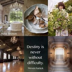 Destiny is never without difficulty collage mood board