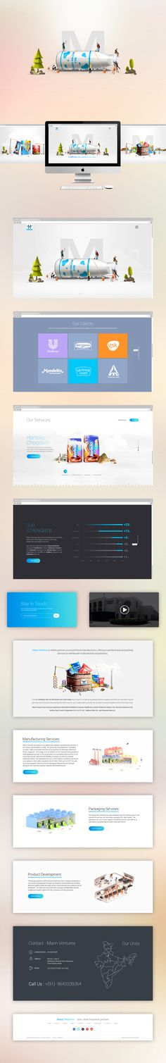 Mother dairy website app ios and android redesign concept