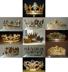 "Crowns...every ""Domestic  Goddess"" really should have atleast one! Keep it on a little decorative  shelf say in your kitchen  or maybe your bedroom  or office! lol!"