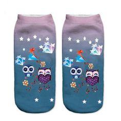 It's absolutely bang-on!   #sockstyle #socksmotif #sockshk #socksdontmatch #sockss #socksappeal #socksandbeards Funny Socks, Cute Socks, Animal Print Socks, Owl Socks, Mens Novelty Socks, Owl Pet, Happy Socks, Good Stretches, Cotton Socks