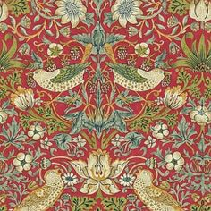 William Morris (1834-1896), artist, philosopher and political theorist, was one of the most outstanding and influential designers of the Arts and Crafts Movement and through his company, Morris & Co., he produced some of the most fashionable and exciting textiles and wallpapers of his era.