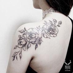 Rose Tattoo shared by zihwa_tattooer