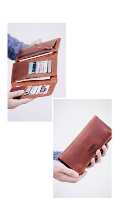 Tiny Christmas Ornaments Leather Passport Holder Cover Case Blocking Travel Wallet