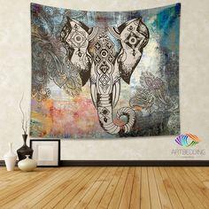 Bohemian Tapestry, Elephant wall tapestry, Hippie tapestry wall hanging, bohemian wall tapestries, Boho tapestries, Ethnic bohemian decor