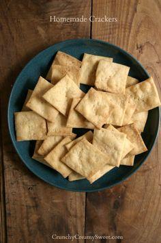 Homemade Crackers by CrunchyCreamySweet.com