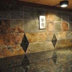 Granite Countertop and Tile Backsplash Ideas-would be nice with white cabs & hardwood floor