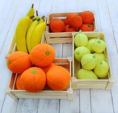 ONE Felt Orange Sewn Full-Sized Fruit Farmers Market Waldorf