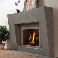 Omega Fireplace mantel of stone traditional fireplaces