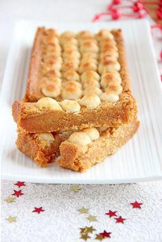 Apple, Marzipan & Nougat Tart #recipe