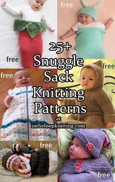 Snuggle your baby with these knitting patterns. There are bunting bags and sleep sacks to keep your baby cozy, cocoons perfect for costumes and newborn photo props, and wraps to swaddle. Great for …