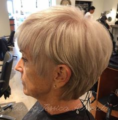 Long Ash Blonde Pixie For Women Over 50