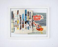 Vintage Book Art Sculpture by yinsteadofi on Etsy