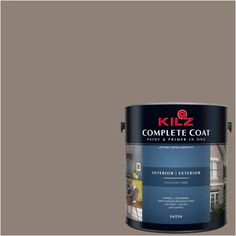 Kilz Complete Coat Interior/Exterior Paint & Primer in One, #LL130 Bohemian Earth, Brown