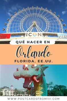 Qué hacer en Orlando además de los parques - Postcards From Ivi Madame Tussauds, Clearwater Beach, Disney Springs, Viaje A Orlando Florida, Dream Chaser, Travel Usa, Travel Blog, Ferris Wheel, Beautiful Places
