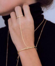 Etsy listing at https://www.etsy.com/listing/233972420/dainty-gold-plated-slave-bracelet-ultra