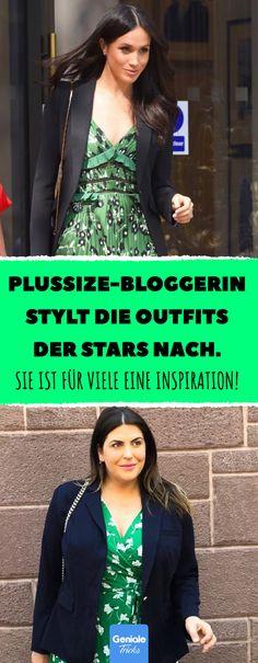 Plussize-Bloggerin stylt die Outfits der Stars nach. #Styling #Mode #Große Größe #Plus-Size #Bloggerin #Outfit #VIP #Inspiration