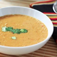 spiced coconut lentil soup.