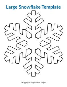8 Free Printable Large Snowflake Templates Click and print one or all of our 8 easy and free printable paper snowflake patterns! Perfect for a Frozen birthday party, simple snowflake coloring page or decorate the snowflake classroom activity. Paper Snowflake Template, Paper Snowflake Patterns, Snowflake Stencil, Origami Templates, Snowflake Craft, Paper Snowflakes, Box Templates, Snowflakes Template Printable, Winter Crafts For Kids