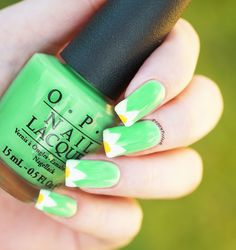 simple summer mani using OPI - You are so outta lime!