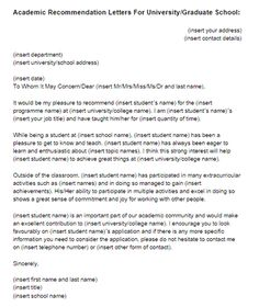 Academic Recommendation Letter Sample Just Templates