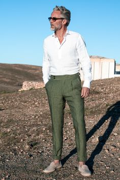 Formal Men Outfit, Casual Outfits, Fashion Outfits, Smart Casual Men, Pantalon Costume, Linen Trousers, Menswear, Mens Fashion, Stylish
