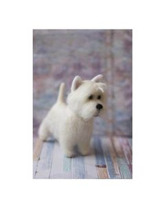 Needle Felted Westie West Highland White Terrier Custom Made