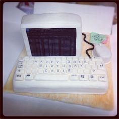 Retro computer cake