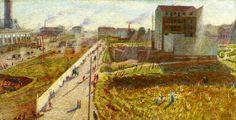 Officine a Porta Romana,  Umberto Boccioni, 1908. Gallerie d'Italia, Milano.