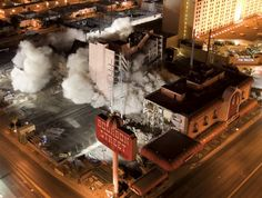 Bourbon Street Las Vegas implosion February 14, 2006. Opened in 1980 with Wayne Newton as one of the owners. In 1985 opened as the New Orleans-thened Bourbon Street Casino. In 2005 it was purchased by Harrah's along with severak other properties.