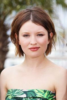 I'm think about getting my hair cut like that, but maybe not quite as short :D  And Emily Browning is so gorgeous!