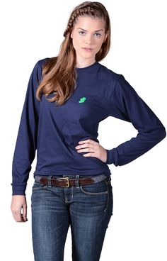 The Navy Ireland Long T-Shirt by Ireland Shirt...All Ireland, All Class, All Beauty!   By Ireland Shirt