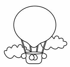 Ausmalbild Transportmittel: Heißluftballon kostenlos ausdrucken