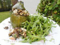 bolletjescourgette met champignons en feta