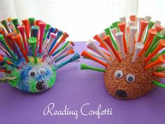 Reading Confetti: Golf Tee Porcupine for Father's Day