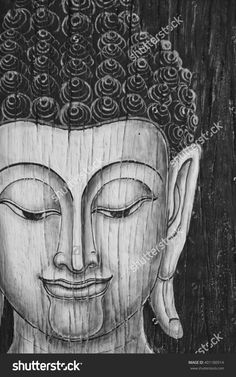 Buddha Paintings On Wood Background Stock Photo 401180914 : Shutterstock