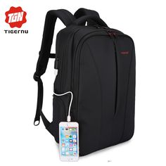 2017 Tigernu Waterproof usb charge 15.6inch laptop Men Backpack Mochila School Bag for Business Backpacks School Backpack