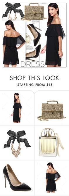 """""""Spring Trend: Off-Shoulder Dresses"""" by duma-duma ❤ liked on Polyvore featuring GUESS by Marciano, Chloé and offshoulderdress"""