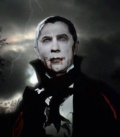 Bela Lugosi as Count Mora from Mark of the Vampire altered in Photoshop.