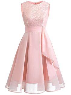 Christmas Vintage Lace Dresses Sleeveless Sexy Pink Party A-Line Chiffon Dresses Elegant Women Midi Vestidos Robe Femme Size S Color Pink Dress Lace Dress Black, Lace Midi Dress, Lace Dresses, Tulle Lace, Sexy Dresses, Sleeveless Dresses, Lace Ribbon, Navy Dress, Modest Dresses