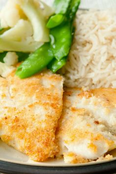 Broiled Tilapia Parmesan ~ Flavorful recipe for this farm raised fish that is easy and done in minutes! The fish is broiled with a creamy cheese coating for an impressive flavor and texture.