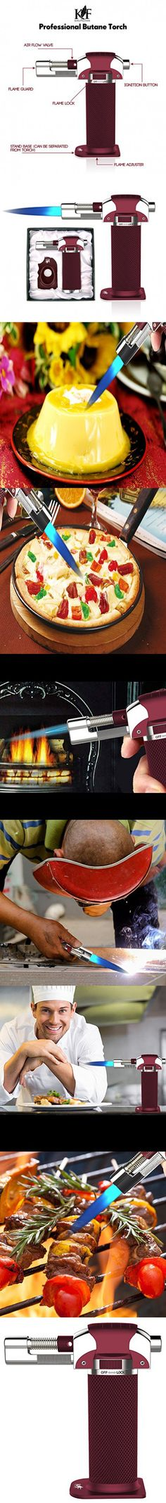 Culinary Torch - Micro Butane Torch - Best Creme Brulee Torch - Food Torch - Cooking Torch - Cooking Blow Torch - Butane Torch For Cooking and Blow Torch with Green Gas Flow (Butane Not Included)